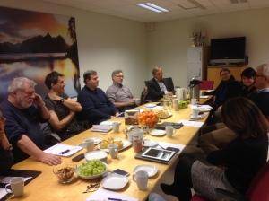 Kommuneoverlegene samlet rundt bordet i Bærum