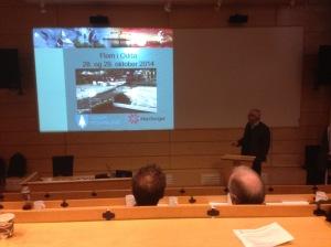 Presentasjon av flommen i Odda på Samøv
