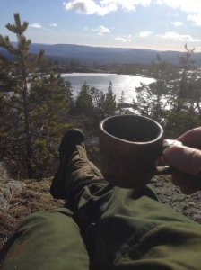 Vårkaffe med utsikt